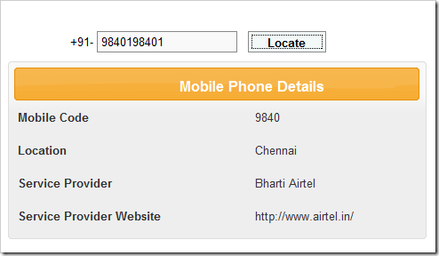 How to find mobile number service provider india price